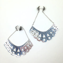 Balinese / Zinnia Silver Earrings