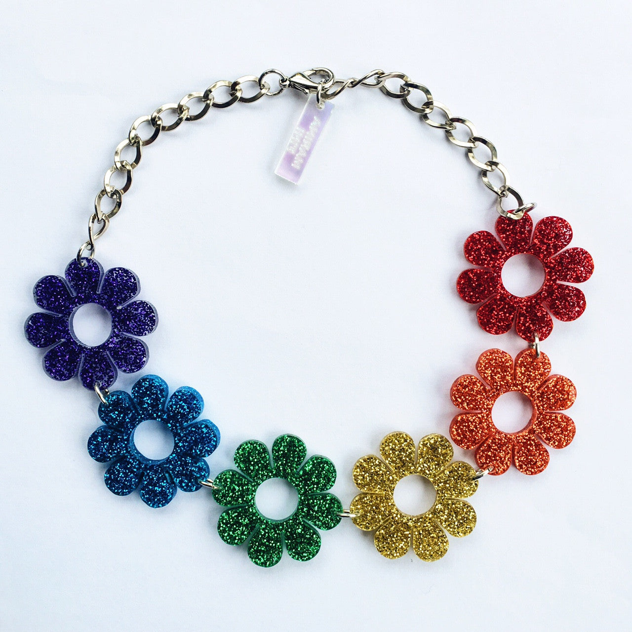 Marina Fini / Plexi Rainbow Flower Power Necklace