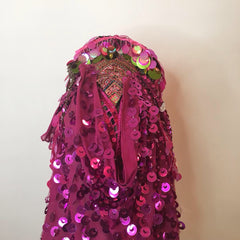 Headdress / Fuchsia Shroud