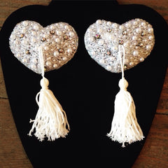Pasties / White Pearl Bridal