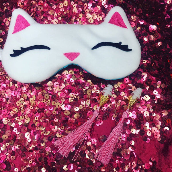Sleep Mask / White Kitty
