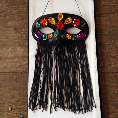 Jeweled Fringe Veil Mask