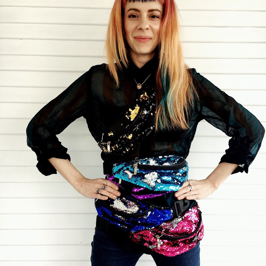 Reversible Sequin Fanny Packs