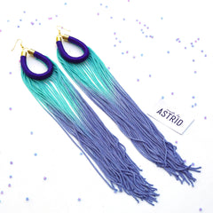 Fringe Loop Tassel Earrings