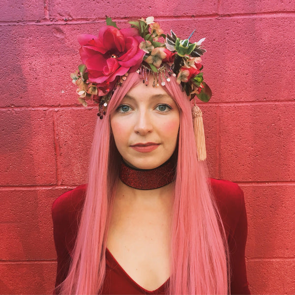 Headdress / Chuparosa Flower Crown