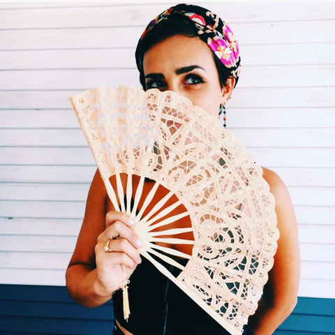 Battenburg Lace Fan