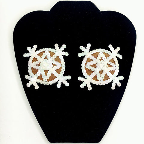 Marina Fini / Stained Glass Pentagram Earrings