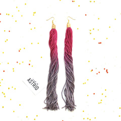"Fringe 9"" Dip- Dyed Earrings"