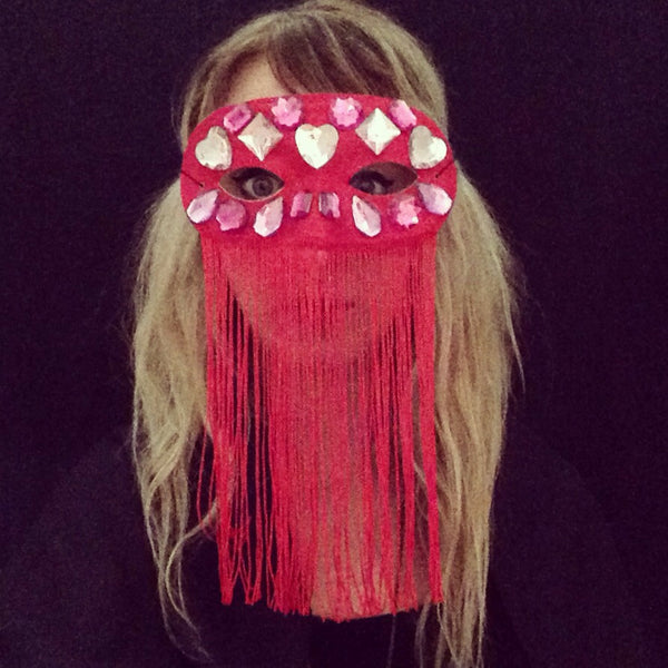 Mask / Jeweled Fringe Veil