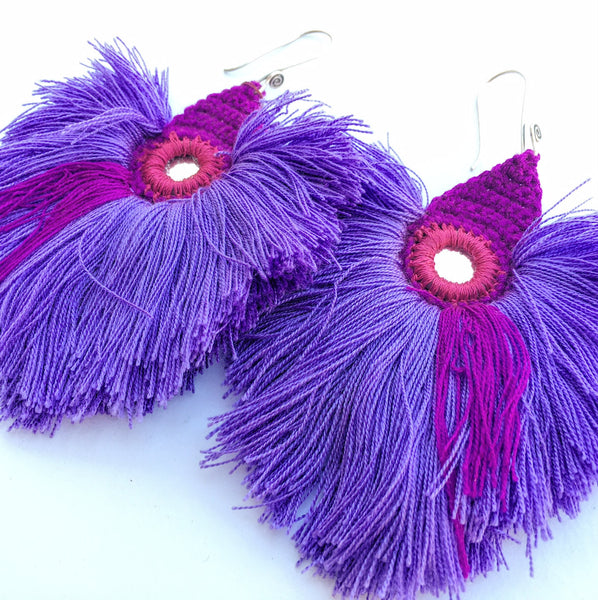 From Thailand, with love: Large Fluff Earrings
