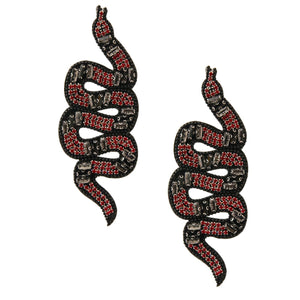 Rhinestone Snake Earrings