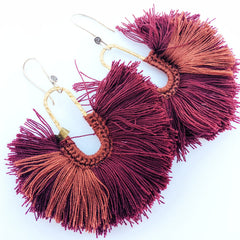 From Thailand, with love: Textured Brass Fluff Earrings
