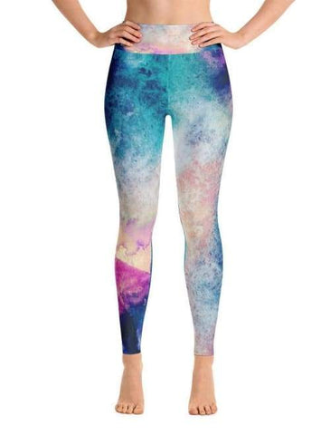 Image of Abstract Watercolor Leggings - Leggings Custom Made