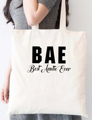 Bae Best Auntie Ever Tote Bag - Tote Custom Made