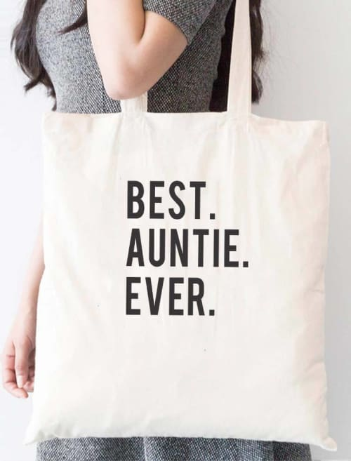 Best Auntie Ever Tote Bag - Tote Custom Made