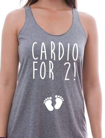 Image of Cardio For 2 Maternity Tank - Womens Tank Custom Made