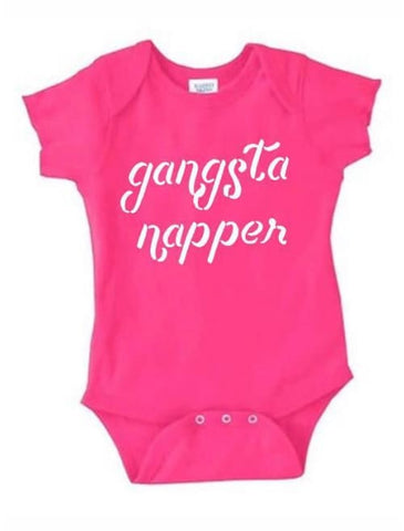 Gangsta Napper Onesie - Onesie Custom Made