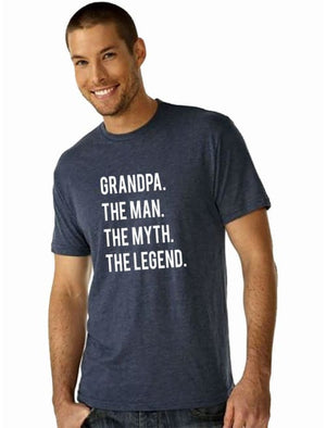 Grandpa. The Man. The Myth. The Legend. Mens Tshirt - Mens Shirt Custom Made