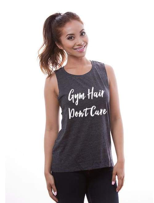 Gym Hair Dont Care Low Armpit Muscle Workout Tank - Muscle Tank Custom Made