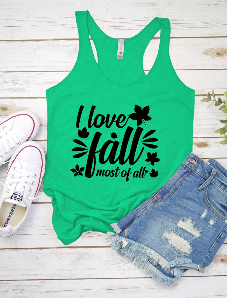 I Love Fall Loose Tank