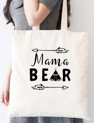Mama Bear Indian Hut Tote Bag - Tote Custom Made