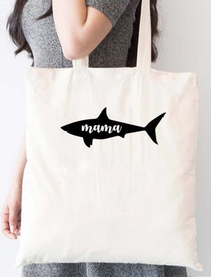 Mama Shark Tote Bag - Tote Custom Made