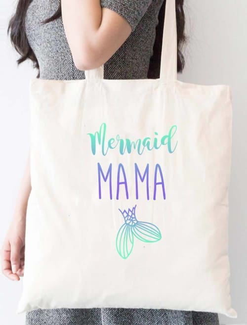 Mermaid Mama Tote Bag - Tote Custom Made