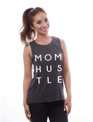 Mom Hustle Low Armpit Muscle Tank - Muscle Tank Custom Made