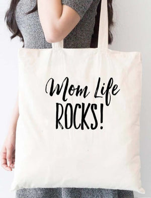 Mom Life Rocks Tote Bag - Tote Custom Made