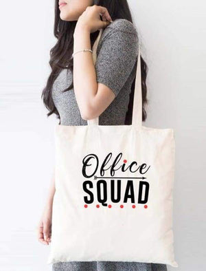 Office Squad School Tote Bag - Tote Custom Made