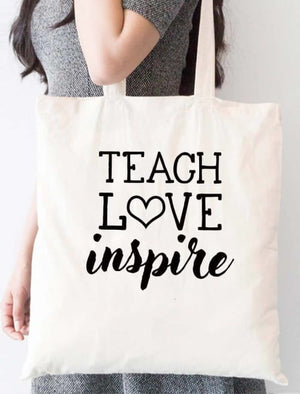 Teach Love Inspire School Tote Bag - Tote Custom Made