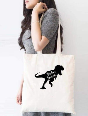 Teachersaurus School Tote Bag - Tote Custom Made