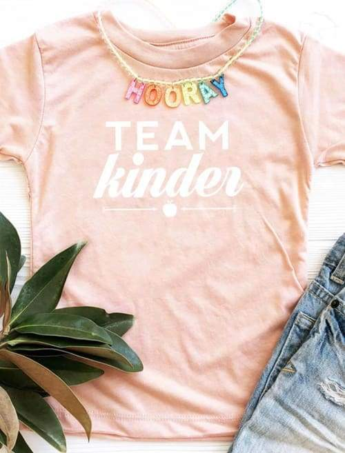 Team Kinder School Youth Tshirt - Boys Youth Custom Made