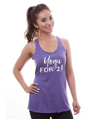 Yoga For 2 Maternity Racerback Tank - Womens Tank Custom Made