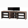 "Sonorous LB-1620 Modern Wood and Glass TV Stand for TVs up to 75"" - Walnut"