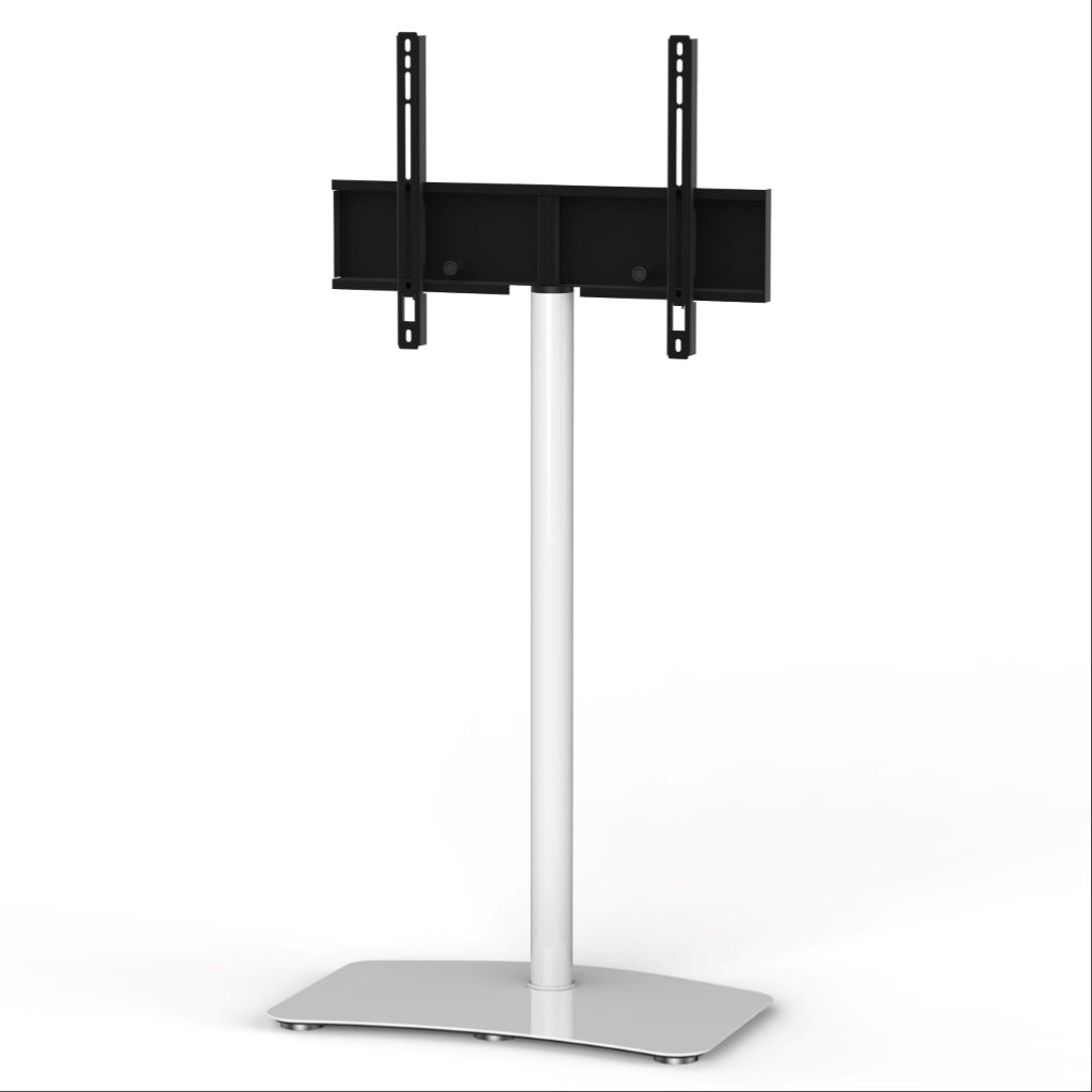 "Sonorous PL-2800 Modern TV Floor Stand Mount / Bracket For Sizes up to 65"" (Steel) - White"