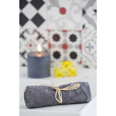 BATHee Gift Set (3 Towels, Vanilla Candle, Olive Oil Jasmine Soap) - A Brand New Concept