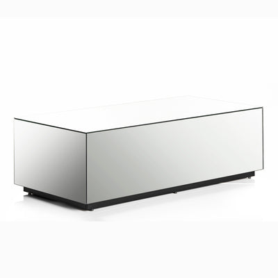 Sonorous CTB-120 All Glass Coffee Table / Center Table - Mirror