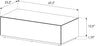 Sonorous CTB-120 All Glass Coffee Table / Center Table - White