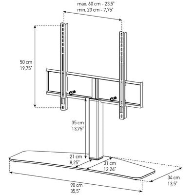 Sonorous PL-2335 Modern TV Stand/Mount for TVs up to 65""