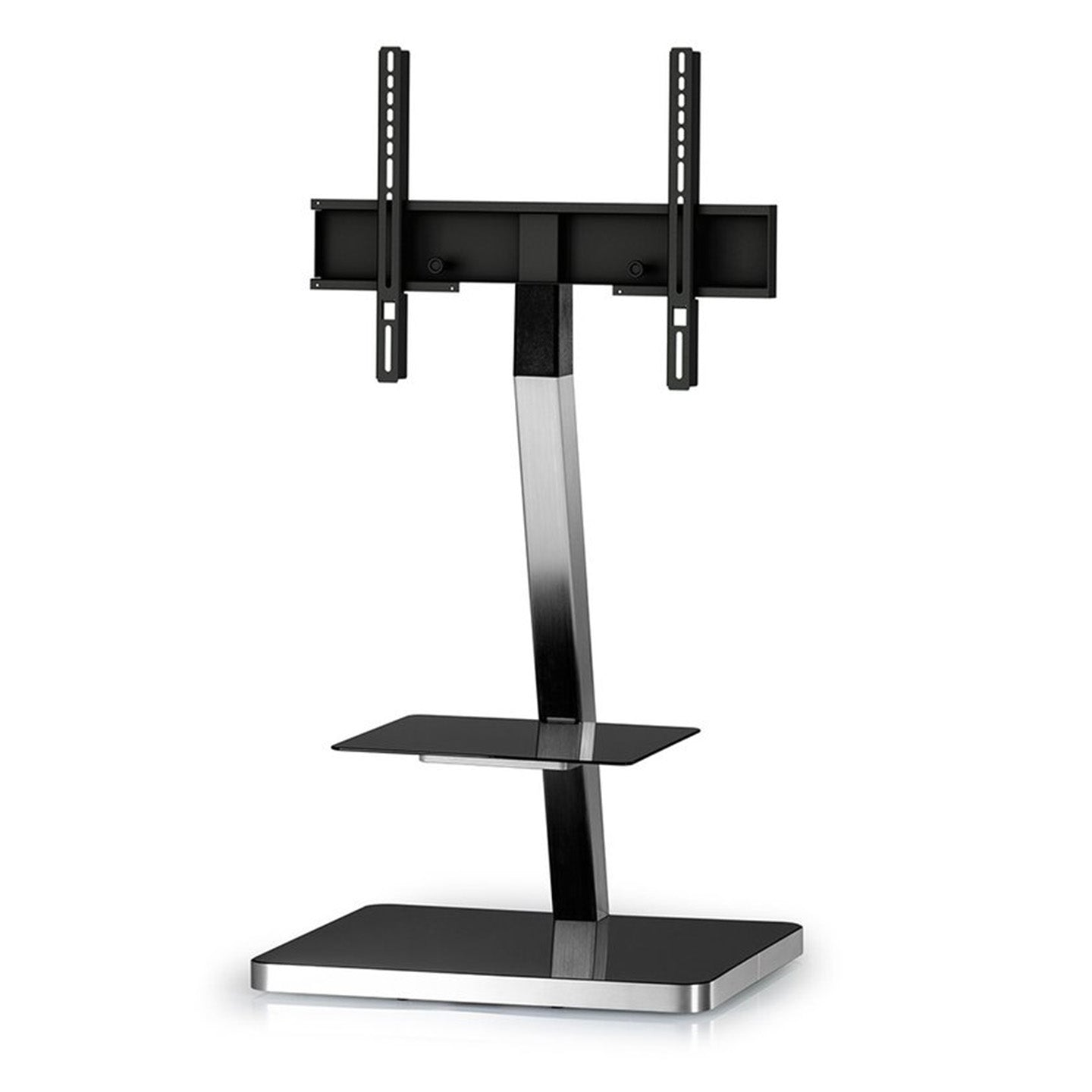 Sonorous PL-2710 Modern TV Floor Stand w/ Tempered Glass Shelf For TVs up to 65""