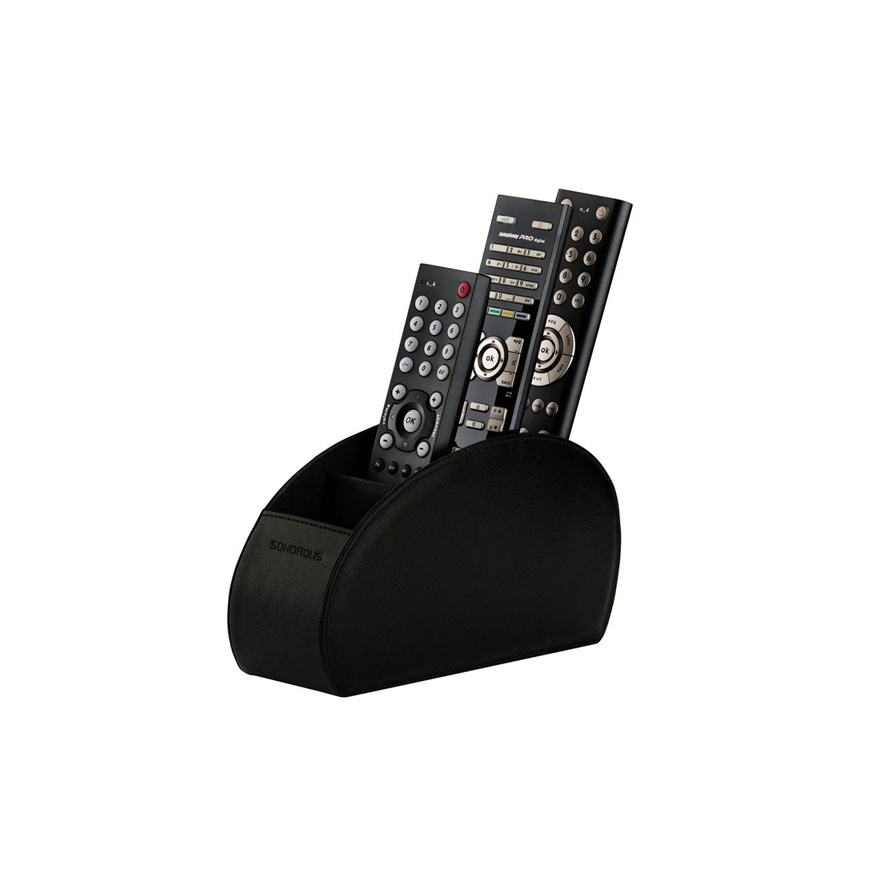Sonorous Luxury Leather Remote Control Holder - Black