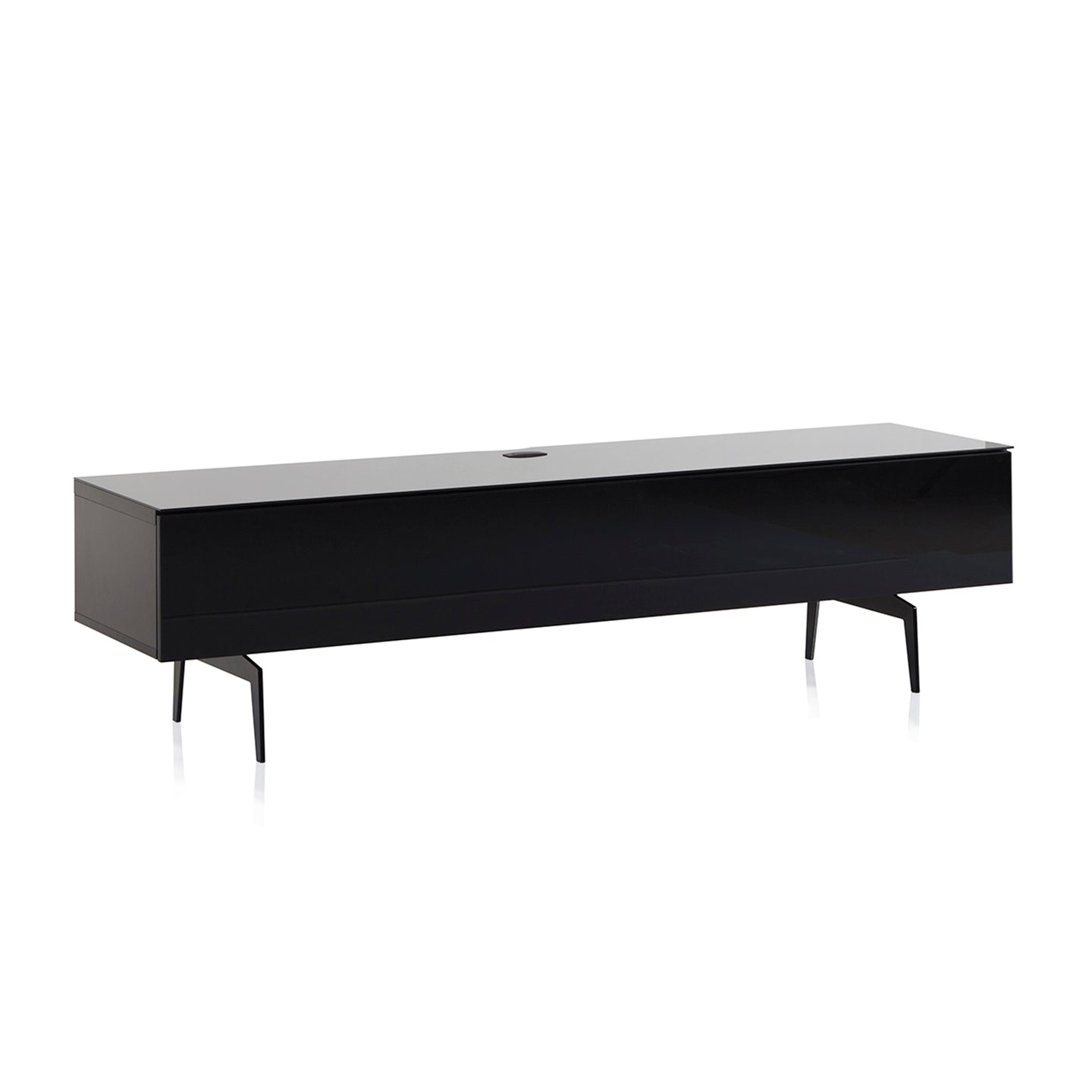 "Sonorous Studio ST360 Modern TV Stand w/ Spike Legs for TVs up to 75"" - Black / Black Wood Cover"