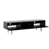 "Sonorous Studio ST360 Modern TV Stand w/ Spike Legs for TVs up to 75"" - Black / White Wood Cover"