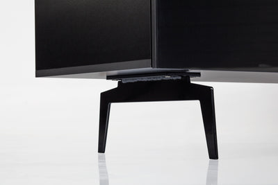 "Sonorous Studio ST360 Modern TV Stand w/ Spike Legs for TVs up to 75"" - Black / Walnut Wood Cover"