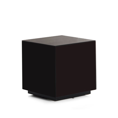Sonorous STB-45 All Glass Cube Side Table - Black