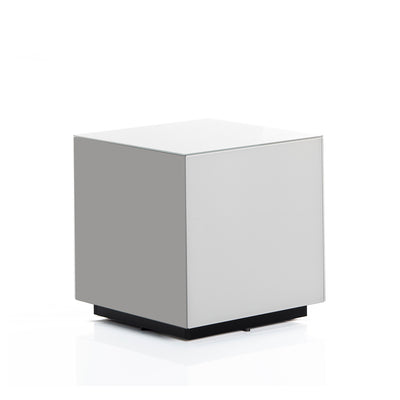 Sonorous STB-45 All Glass Cube Side Table - White