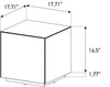 Sonorous STB-45 All Glass Cube Side Table - Mirror