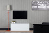 "Sonorous Studio ST110 Modern TV Stand w/ Hidden Wheels for TVs up to 65"" - White / Black Wood Cover"