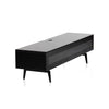 "Sonorous Studio ST360 Modern TV Stand w/ Spike Legs for TVs up to 75"" - Black / Black Glass Cover"